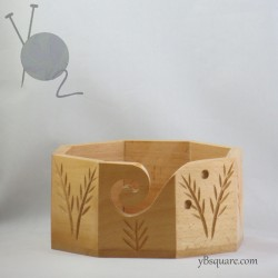 Beech Wood Yarn Bowl